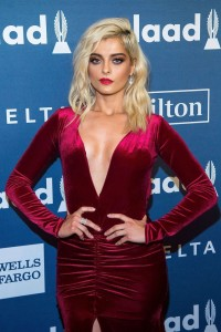 Bebe Rexha big cleavage