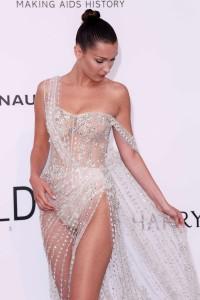 Bella Hadid see thru dress