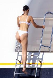 Bella Hadid white bikini