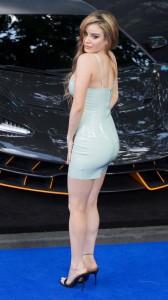 Carla Howe mini blue dress