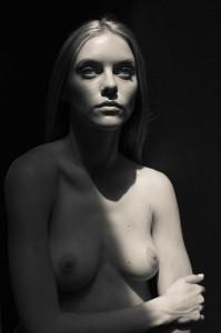 Elle Evans nipples bw