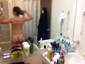 Kaylyn Kyle ass bathroom