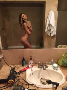 Tika Camaj nude at bath