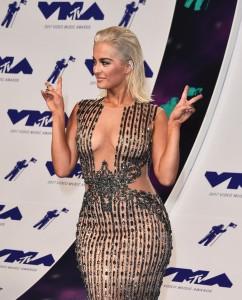Bebe Rexha sexy see trhu cleavage