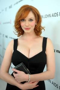 Christina Hendricks hot cleavage