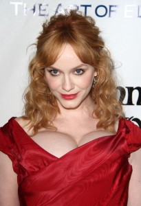 Christina Hendricks sexy cleavage