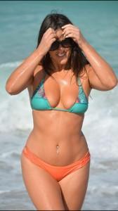 Claudia Romani hot bikini