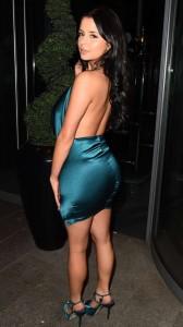 Demi Rose hot blue dress