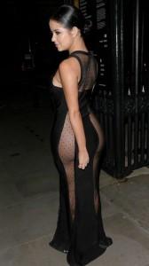 Demi Rose see thru dress