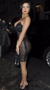 Demi Rose see thru sexy dress
