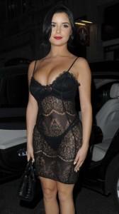 Demi Rose sexy black dress