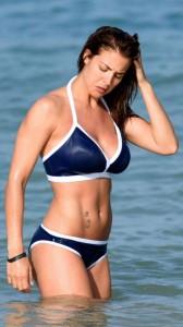 Gemma Atkinson sexy blue bikini