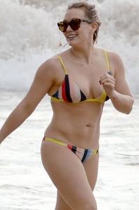 Hilary Duff bikini candids