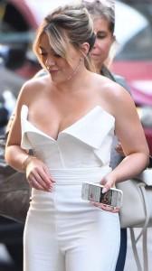 Hilary Duff near nipple slip
