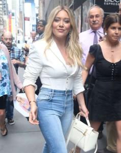 Hilary Duff sexy at street