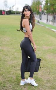 Jasmin Walia sexy spandex