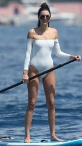 Kendall Jenner white swimsuit