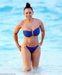 Mel B in blue bikini candids