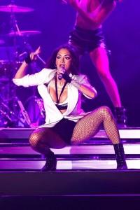 Nicole Scherzinger hot on stage