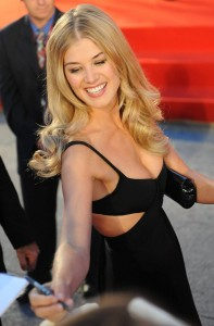 Rosamund Pike nice cleavage