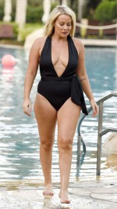 Selina Waterman Smith cleavage swimsuit