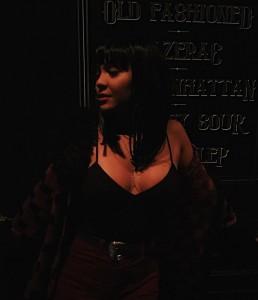 Stella Hudgens at night club