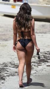 Vicky Pattison in black sexy bikini