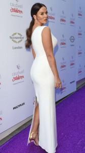 Vicky Pattison sexy white dress