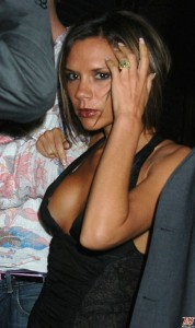 Victoria Beckham nipple slip