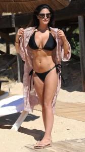 Casey Batchelor sexy black bikini