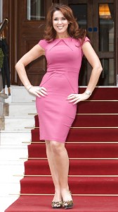 Claire Sweeney pink dress