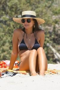 Emily Ratajkowski black sexy bikini