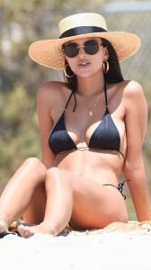 Emily Ratajkowski tiny black bikini