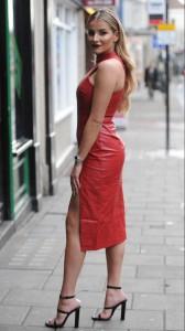 Georgia Kousoulou sexy leather dress