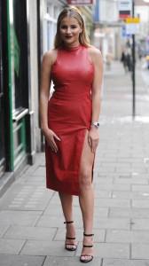 Georgia Kousoulou sexy red dress