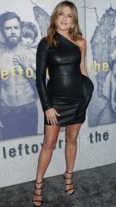 Jennifer Aniston in black sexy dress