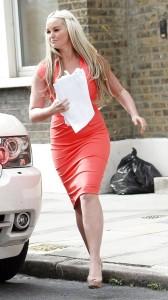 Jennifer Ellison sexy red dress