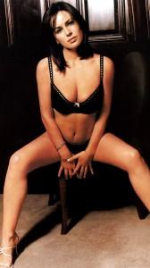 Jill Halfpenny sexy black bra