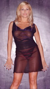 Melinda Messenger hot see thru dress