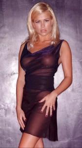 Melinda Messenger see thru dress