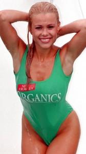 Melinda Messenger sexy green swimsuit