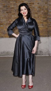 Nigella Lawson black dress