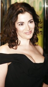 Nigella Lawson in black dress