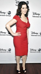 Nigella Lawson in red sexy dress