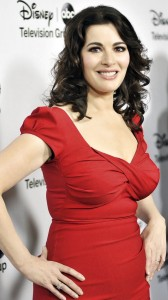 Nigella Lawson sexy red dress