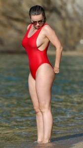 Ola Jordan red swimsuit