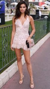 Sara Sampiao sexy dress