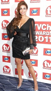Shobna Gulati black dress cleavage