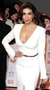 Shobna Gulati sexy cleavage in white dress