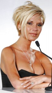 Victoria Beckham mega cleavage